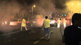 Burn out on Jumeirah Rd 40th National day :)