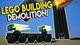 TALLEST LEGO SKYSCRAPER DEMOLITION SURVIVAL! - Brick Rigs Gameplay Creations - Lego City Destruction