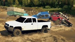 MUDDING RESCUE! Towing Trucks Out of the Mud! 4x4 Off-Roading & Mudding! (SpinTires)