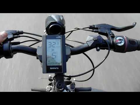 Мотор-колесо BAFANG 500 ват 48 вольт,  тест на велосипеде STERN.