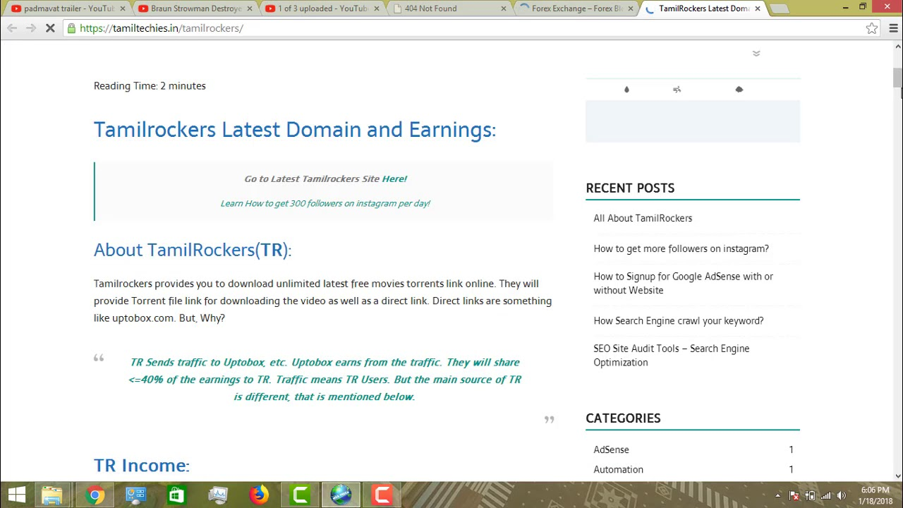 HOW TO FIND OUT NEW TAMILROCKERS DOMAIN EASILY october month domain 2018