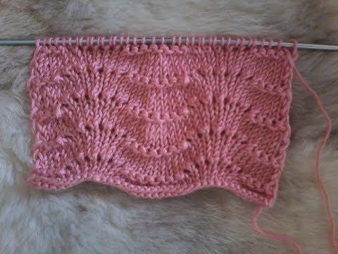 tuto tricot   point de tricot   les vagues - YouTube 63155a14eb6