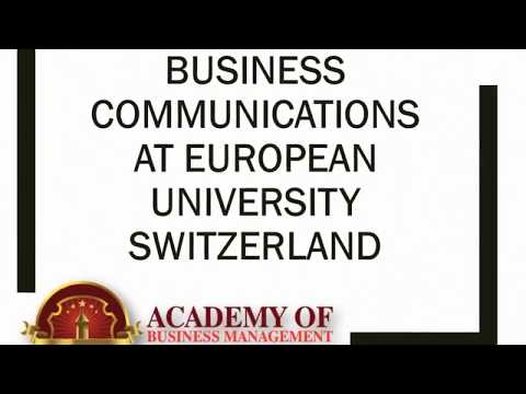 Business Communications at European University Switzerland
