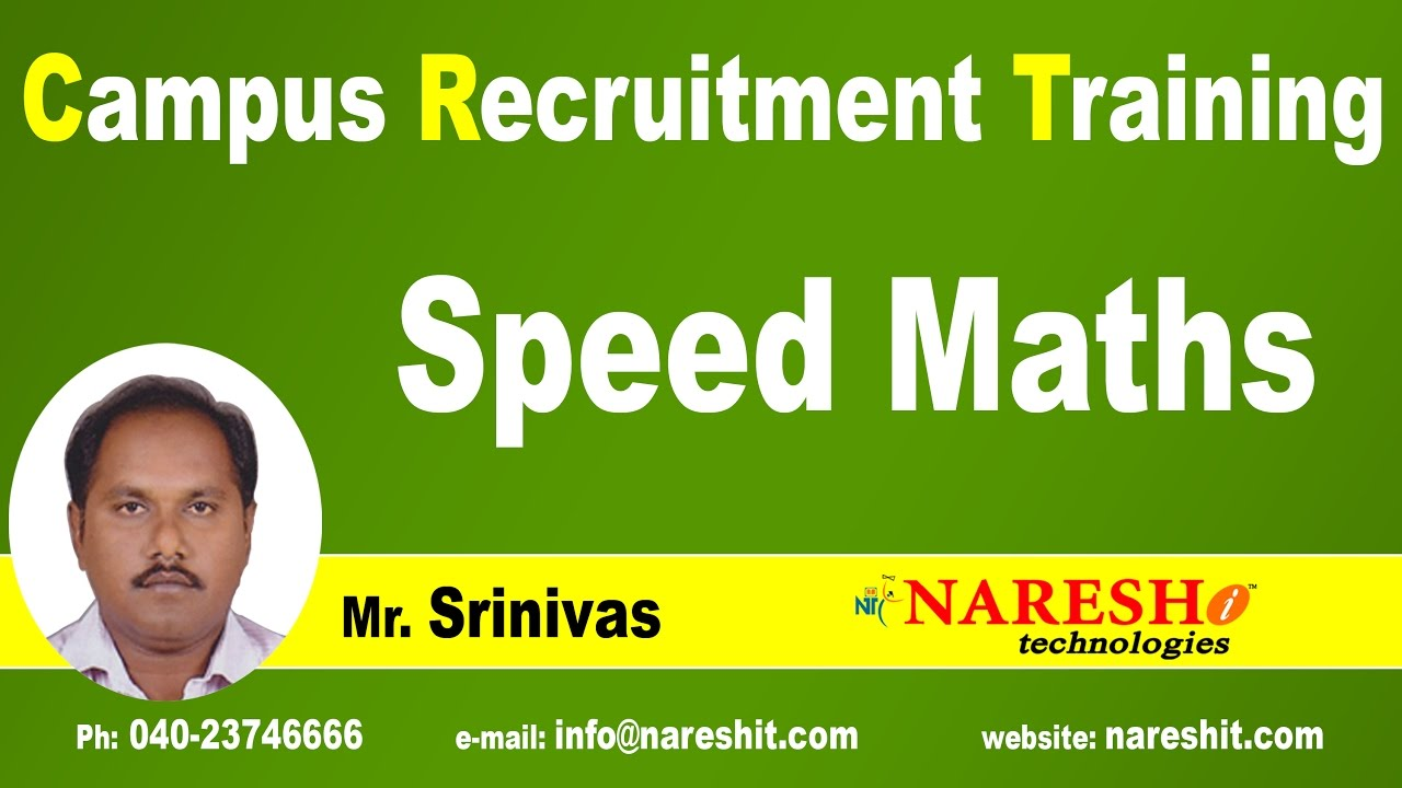 Speed Maths Tricks for Competitive Exams   CRT Training