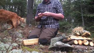 Gambar cover Bushcraft: Chaga Fire Plow Friction Fire