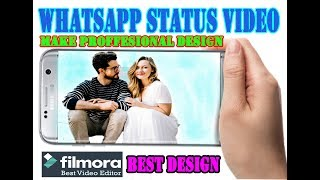 Make Whatsapp Status Video || Wondershare Filmora || Technical Dost Arbind