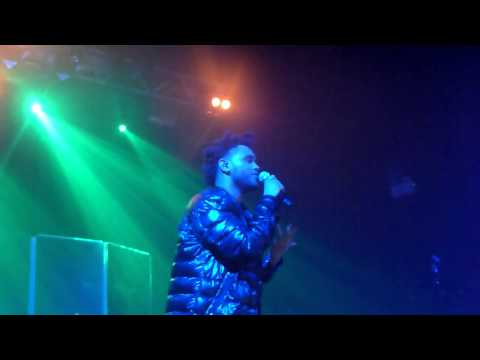 The Weeknd Performing 'Outside' In Manchester 2013