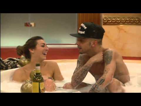 Dappy's kiss in the hot tub: Day 3, Celebrity Big Brother