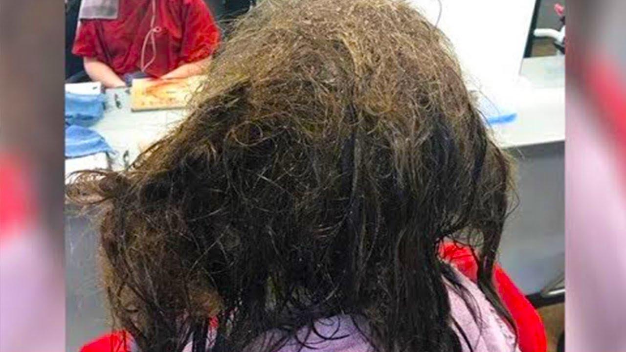 بسبب الاكتئاب ، لم تمشط هذه الفتاة شعرها لعدة اشهر، وهو ما ترك مصففة الشعر في دهشة مما رأته!