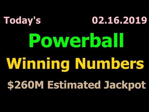 Today Powerball Winning Numbers 16 February 2019. Powerball drawing tonight