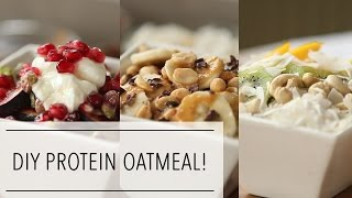 DIY PROTEIN OATMEAL | Healthy HOLIDAY Egg White Oats BREAKFAST for CHRISTMAS Morning