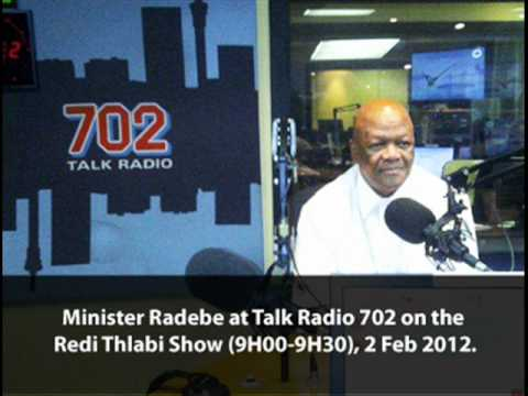Talk Radio 702 interview with Justice Minister Jeff Radebe, 2 Feb 2012
