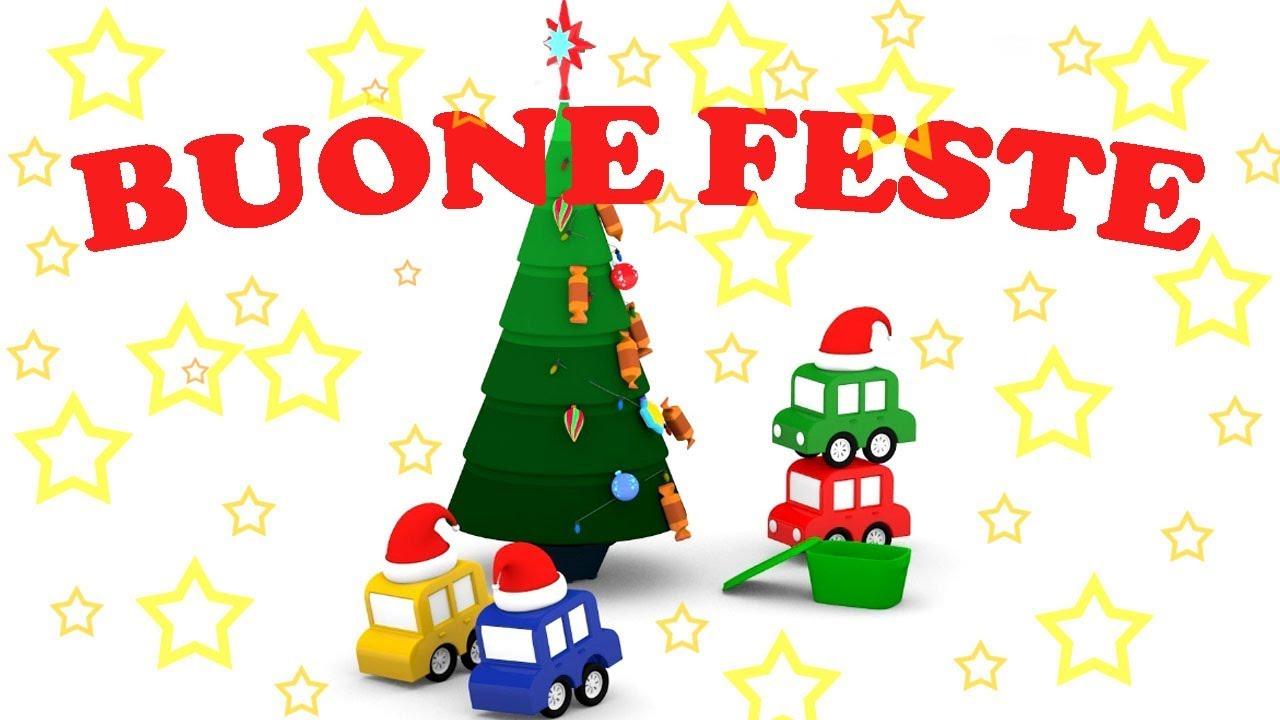 Immagini Di Natale Per Bambini Colorate.Cartoni Animati Per Bambini Speciale Le Macchinine Colorate E L Albero Di Natale Perfetto