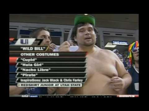 Shirtless Cupid/Peter Pan/Hula Girl/Pirate Wild Bill Utah State Aggies