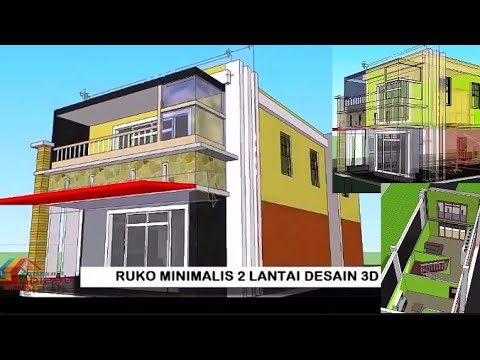 ruko minimalis 2 lantai moderen desain 3d 2020 - youtube