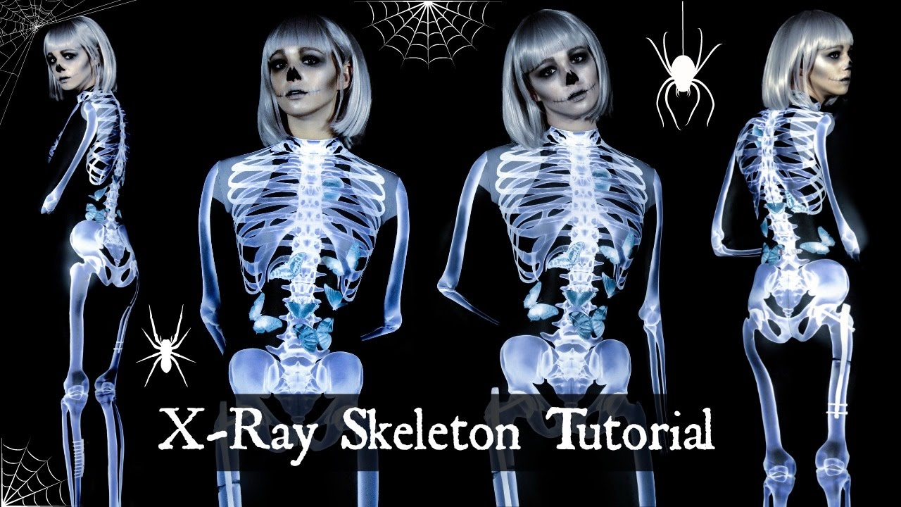 X Ray Skeleton Tutorial Makeup Costume Jordan Byers Youtube