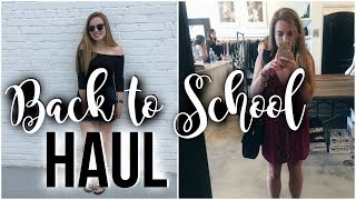 HUGE Back to School TRY-ON Clothing Haul thumbnail