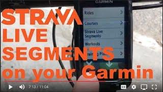 How to setup and use Strava Live Segments on a Garmin Edge Bike Computer