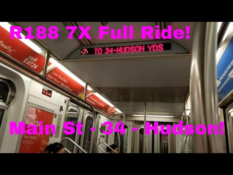 MTA NYC Subway: 7 Express Line Full Ride! (Main St - 34 St - Hudson Yards)
