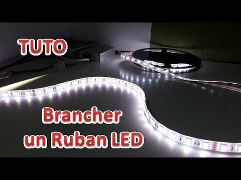 Tuto brancher un ruban led acheter vos ampoules youtube for Installer ruban led plafond