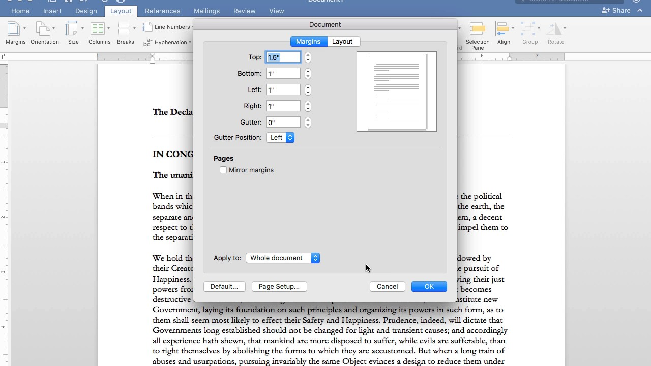 Setting margins in word 2016 for mac youtube setting margins in word 2016 for mac ccuart Images