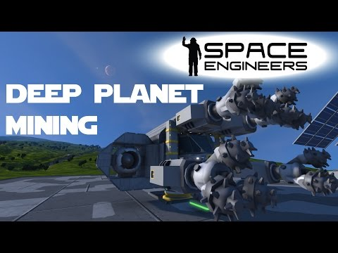 Space Engineers Planet Survival Ep 20 - Mining Deep Under The Ground - Planet Mining.