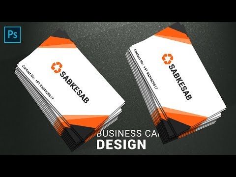 Visiting Card Design in Photoshop in Hindi | How to Make Business Design in Photoshop. thumbnail