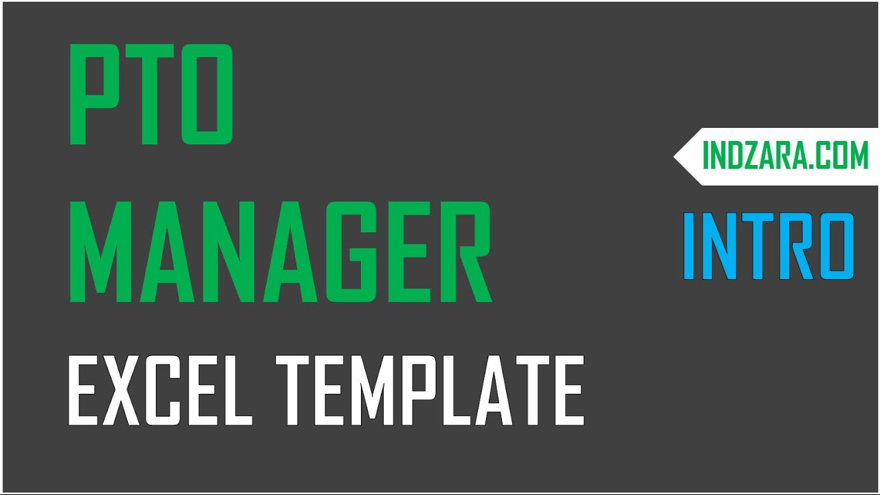Small Business Paid Time Off PTO Manager Excel Template