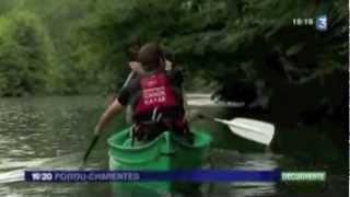 Reportage France 3 Base Canoe Ruffec Rejallant Verteuil en Charente (27/08/2012)