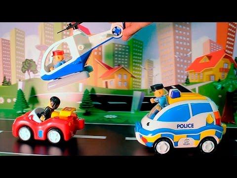 Мультики Полицейские  Пожарные машины и Скорая помощь у видео Для детей Машинки все серии подряд