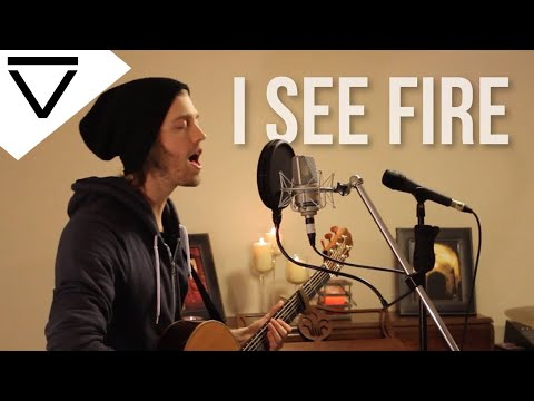 """I See Fire"" Ed Sheeran (Acoustic Loop Pedal Cover) with Tabs and Lyrics!!!!!!"