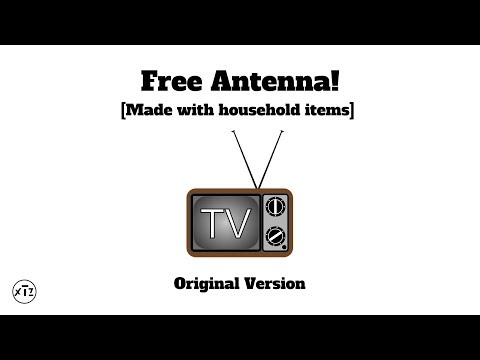 How to make a FREE and EASY antenna for your TV!