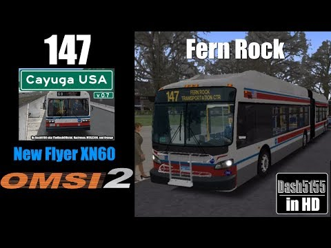 Cayuga USA Route 147 with New Flyer XN40 - OMSI 2
