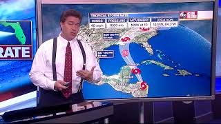 Tropical Storm Nate Forecast with Denis Phillips on Thursday, October 5, 2017 (7PM)
