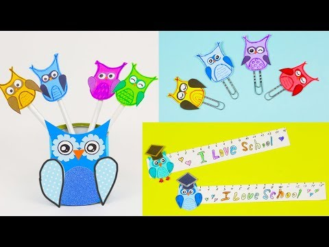 4 DIY OWL paper crafts for school | Easy crafts school