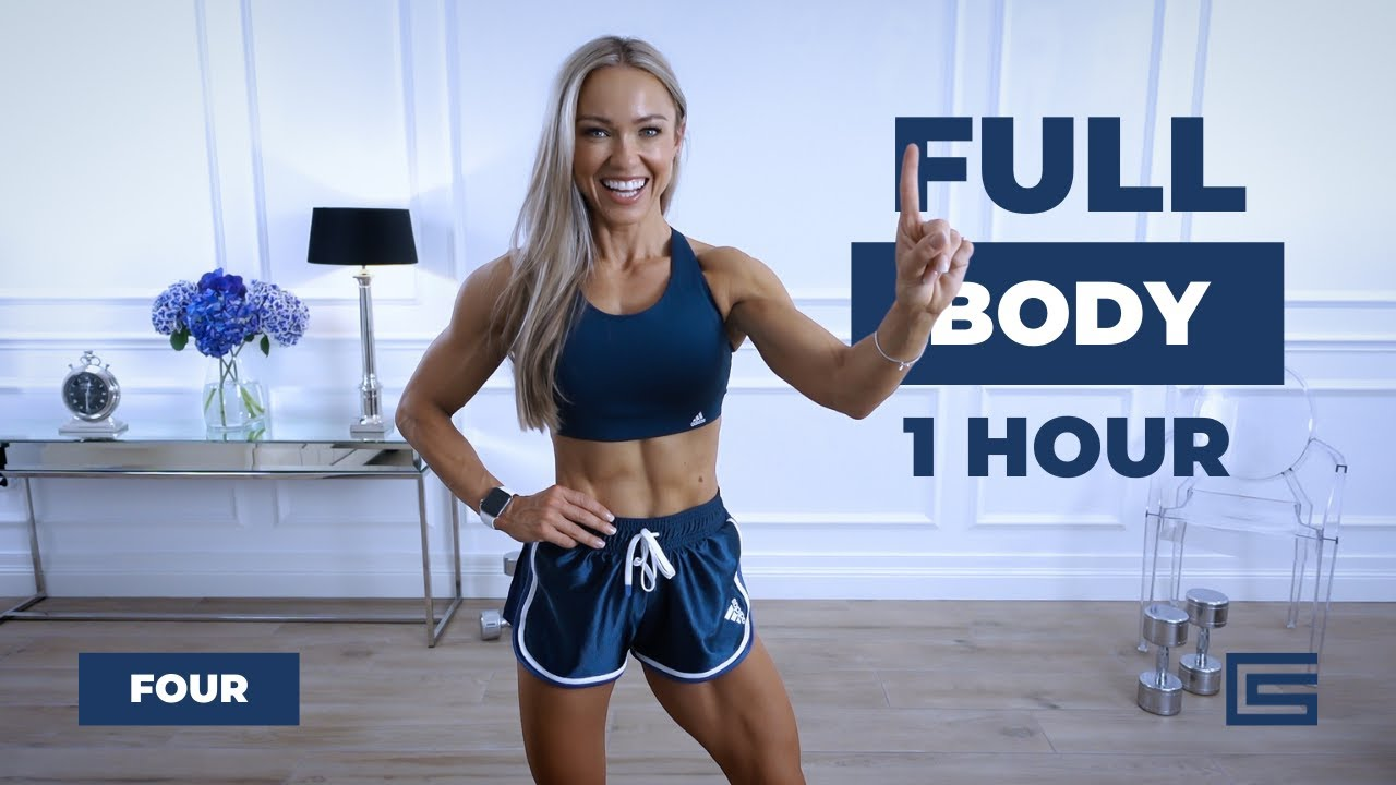 1 HOUR FULL BODY WORKOUT at Home - Dumbbells, Bodyweight   Complex Series - Day 4