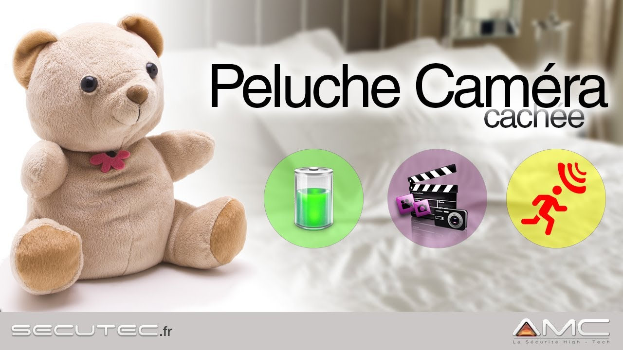 camera espion dans une peluche autonome detection de. Black Bedroom Furniture Sets. Home Design Ideas