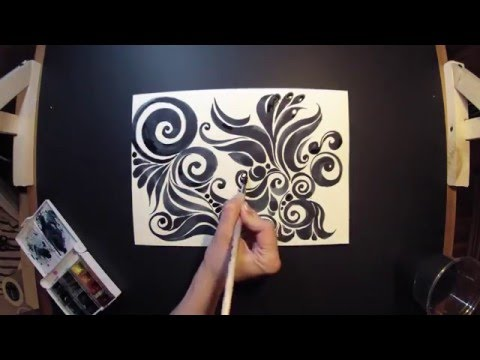 Как нарисовать  «Узоры» Timelapse video. How to draw  patterns  Timelapse video.