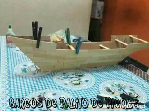 Barcos De Palito De Picol 233 Youtube