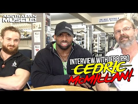 IFBB Pro Cedric McMillan Interview @ Australian Muscle The Gym!