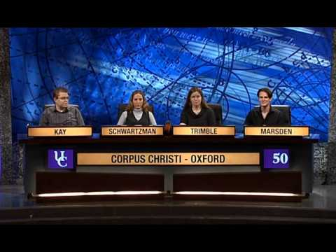 University Challenge S38E31 (Final) Manchester vs. Corpus Christi, Oxford