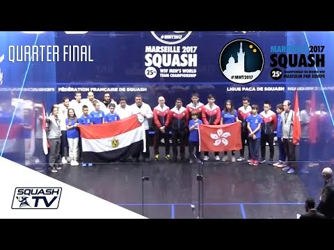 Squash: Egypt v Hong Kong - Men's World Team Champs - Semi-Final Highlgihts
