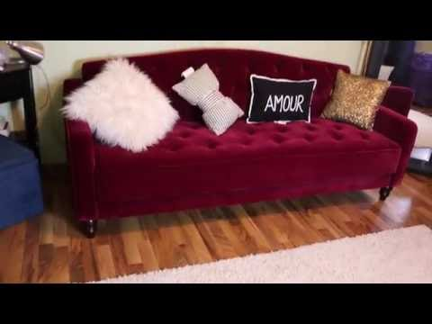 UNBOXING MY VINTAGE INSPIRED SOFA SLEEPER WALMART