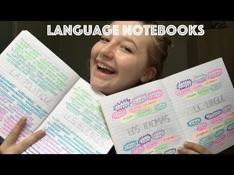 language notebooks: russian, spanish, italian and french
