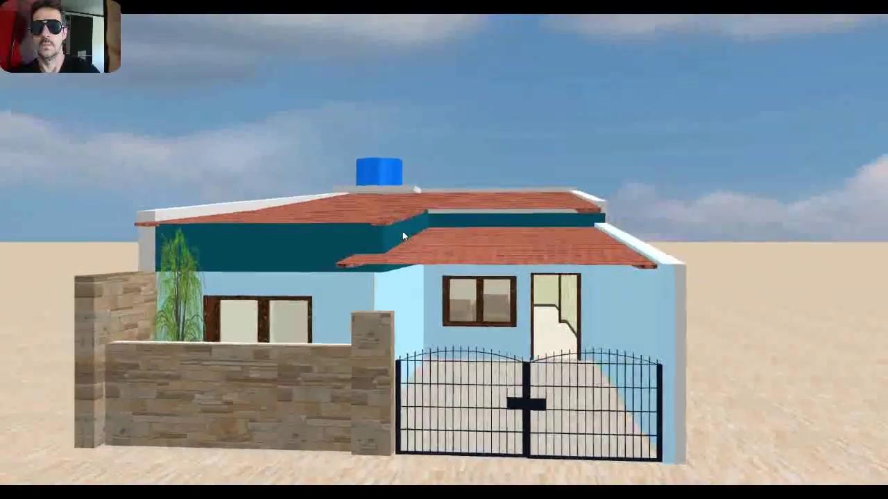 Planta simples para casa pequena 5x10 youtube - Casas pequenas ...