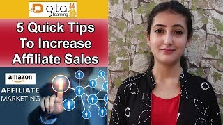 AFFILIATE MARKETING (Hindi) - 5 Powerful Affiliate Marketing Tips To Increase Affiliate Sales