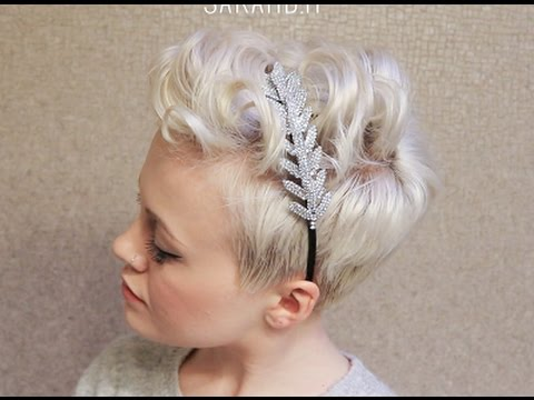 Curly Pixie Cut Hairstyles Formal Bridal Youtube