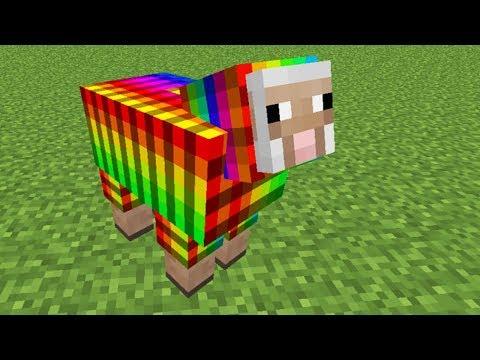 Tengo una oveja MULTICOLOR en Minecraft SURVIVAL