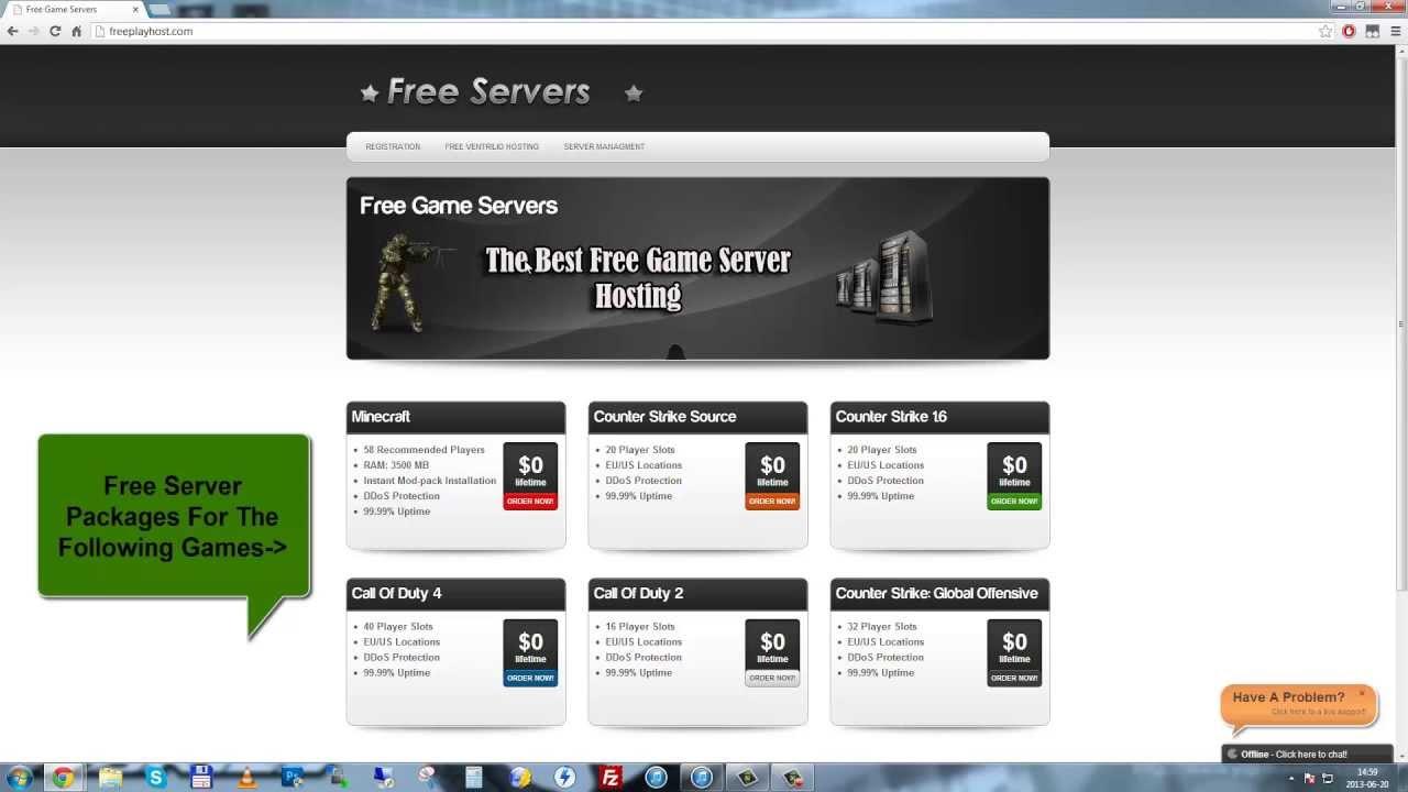 Бесплатный хостинг для серверов для игр создай свой сайт бесплатный хостинг