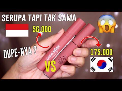 mirip-bgt-ini-:-wardah-velvet-lip-mousse-vs-3ce-velvet-lip-tint😱- -maria-soelisty